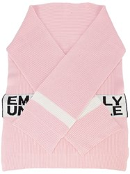 Haculla Emotionally Unavailable Knit Scarf Pink