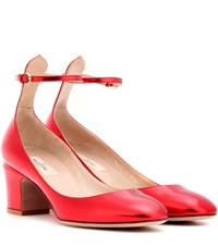 Valentino Tan Go Leather Pumps Red