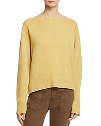 Vince Boat Neck Cashmere Sweater Banana