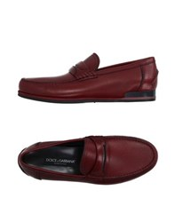 Dolce And Gabbana Footwear Moccasins Men Brick Red