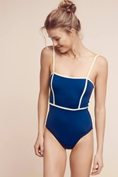 Anthropologie Solid And Striped Lexi One Piece Navy