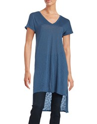 Splendid Hi Lo V Neck Tunic Blue
