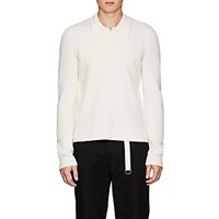Helmut Lang Wool Polo Sweater White