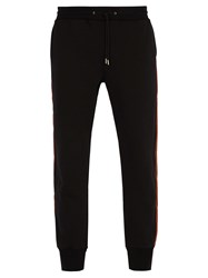 Paul Smith Side Stripe Tapered Leg Cotton Track Pants Navy