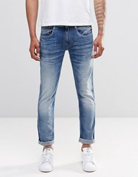 Replay Anbass Slim Jeans Super Stretch Mid Wash Mid Wash Blue