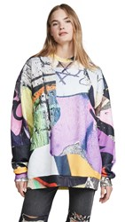 Marques Almeida Oversized Sweatshirt Graffiti