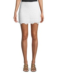 Bailey 44 Sesame Crochet Mini Skirt White