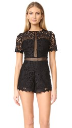 Ministry Of Style Lush Lace Romper Black