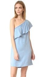 7 For All Mankind One Shoulder Dress Riov