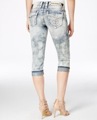 Rock Revival Cuffed Capri Jeans Light Blue