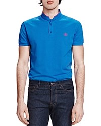 The Kooples Shiny Pique Classic Fit Polo Blue
