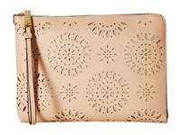 Ivanka Trump Rio Tech Sleeve Nude Lasercut Clutch Handbags Beige