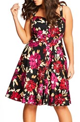 City Chic Plus Size Women's Vintage Painted Sundress
