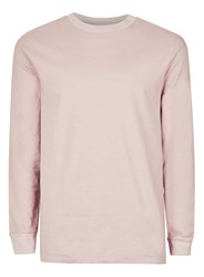 Topman Pink Oversized Long Sleeve T Shirt