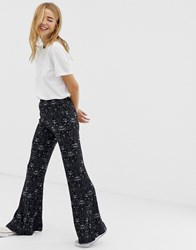 Qed London Flare Trousers Black