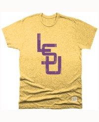 Retro Brand Men's Lsu Tigers Mock Twist T Shirt Gold