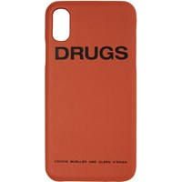 Raf Simons Orange 'Drugs' Iphone X Case