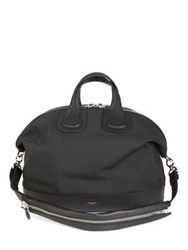 Givenchy Nightingale Faux Leather Tote Black