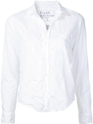 Frank And Eileen Wrinkle Effect Shirt White