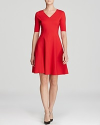 T Tahari Valencia Fit And Flare Dress Poppy