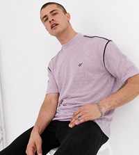 Heart And Dagger Slim Fit Knitted T Shirt In Lilac Purple