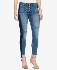 William Rast High Waisted Frayed Cuff Skinny Jeans Paybox