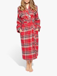 Cyberjammies Belle Check Long Dressing Gown Red