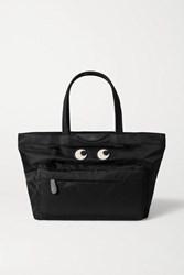 Anya Hindmarch Eyes Leather Trimmed Shell Tote Black