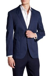 Kroon Navy Two Button Notch Lapel Sports Coat Blue