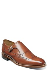 Stacy Adams Men's Madison Ii Monk Strap Shoe Cognac