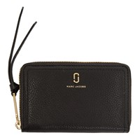 Marc Jacobs Black Small Softshot Standard Wallet