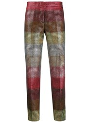 Marco De Vincenzo Houndstooth Slim Fit Trousers 60