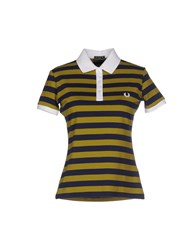 Fred Perry Topwear Polo Shirts Women Dark Blue