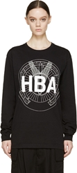 Hood By Air Black Sundial T Shirt