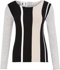 Austin Reed Merino Vertical Stripe Jumper Multi Coloured