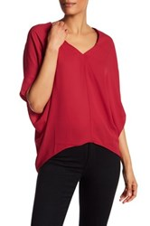 Heather By Bordeaux Bubble Shirt Red