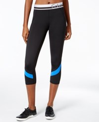 Calvin Klein Performance Colorblocked Capri Leggings Fusion Blue Combo