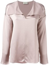 Lanvin Loose Fit Blouse Pink And Purple