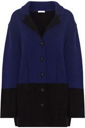 Oscar De La Renta Wool And Cashmere Blend Jacket Midnight Blue