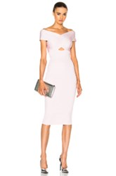 Cushnie Et Ochs Crossover Boatneck Pencil Dress In Pink