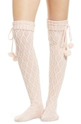 Ugg Sparkle Cable Knit Over The Knee Socks Seashell Pink