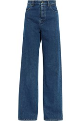 Y Project Cutout High Rise Wide Leg Jeans Dark Denim