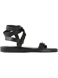 Ann Demeulemeester Buckled Ankle Strap Sandals Black