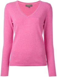 N.Peal Fine Knit Sweater Pink Purple
