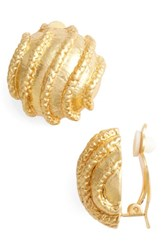 Karine Sultan Women's Large Clip On Stud Earings Gold