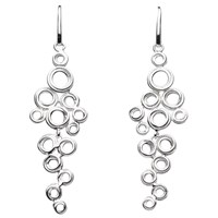 Kit Heath Coil Cluster Drop Earrings Silver