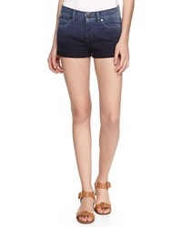 Stella Mccartney Ombre Denim Cuffed Shorts Navy