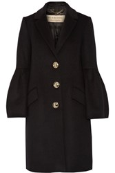 Burberry Wool And Cashmere Blend Coat Black