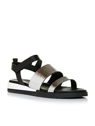 Moda In Pelle Nellas Sporty Sandals Silver