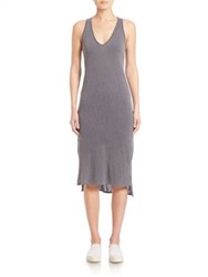 Stateside Supima Slub Jersey Racerback Dress Mauve Charcoal